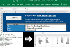 Excel VBA to Load CSV Files – Data Insight Consulting